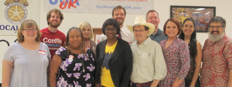 OROK board of directors with OR's Nina Turner and Jim Hightower.
